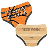 Big Dot of Happiness Nothin' but Net - Basketball - Diaper Shaped Raffle Ticket Inserts - Baby Shower Activities - Diaper Raffle Game - Set of 24