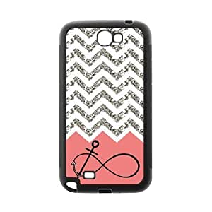 For SamSung Galaxy S4 Case Cover Pink Infinity with Anchor Grey White Chevron Beautiful Luxury Plastic For SamSung Galaxy S4 Case Cover By @ALL