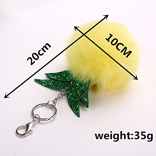 SUPPION Fur Pineapple Key Chain Bag Car Keyring Jewelry (Yellow) by Suppion (Image #4)