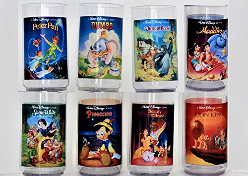 1994 Burger King Disney Collectible Plastic Cups