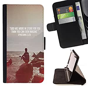 Quote Religion Epiphany Christian - Painting Art Smile Face Style Design PU Leather Flip Stand Case Cover FOR Samsung Galaxy S4 IV I9500 @ The Smurfs