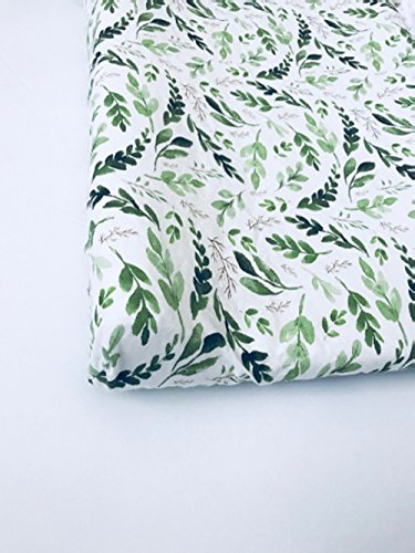 Changing Pad Cover - Watercolor Leaves by Lullabies and Lollipops