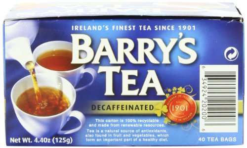 Barry's Tea, Decaffeinated, 40 Teabags (Pack of 6) from Barry's Tea