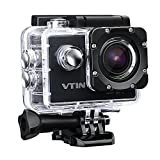 Vtin Waterproof Action Camera, HD 1080P 12MP Camcorder, 15M WIFI Control, 2.0-inch LCD Screen, 30M/98ft Underwater Camcorder ( 2x 1050mAh Rechargable Batteries, 26 Accessories) - Spo Edition