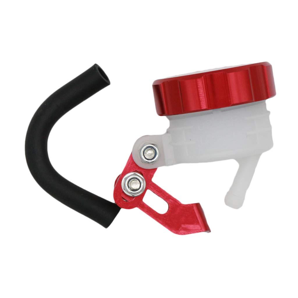 perfeclan Dep/ósito de Fluido de Cilindro de Aceite de Motocicleta Universal Rojo