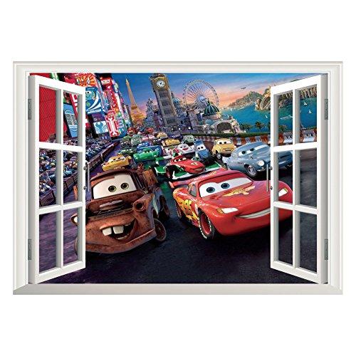 Fangeplus DIY Removable Pixar Cars Lightning McQueen 3D Wind