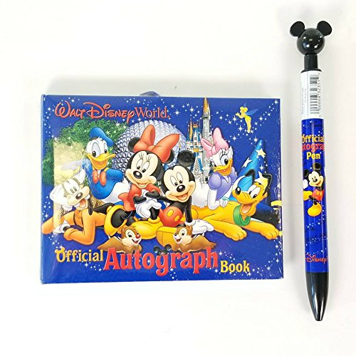 - Disney Parks Walt Disney World Exclusive Official Character Autograph Book with Pen! Mickey Mouse