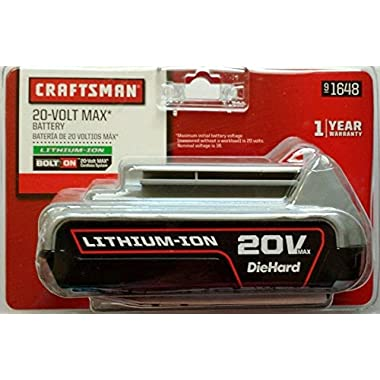 Craftsman 20v MAX Lithium Battery 26wh for Bolt on System Cmc20b 900.1648