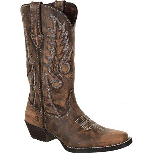 Durango Dream Catcher Women's Distressed Brown Western Boot Mid Calf Tan, 6 M US ()