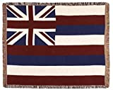 Simply Home State Flag of Hawaii Woven Tapestry Afghan Throw Blanket 50'' x 60''