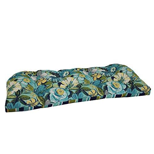 Brentwood Originals Indoor/Outdoor Loveseat Cushion Brentwood, Robyn Point Aqua, 1 piece ()