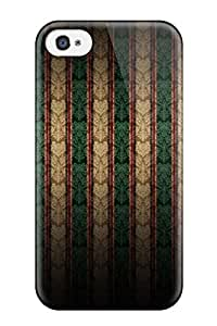 Waterdrop Snap-on Pattern Abstract Pattern Case For Iphone 4/4s