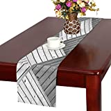WBSNDB Texture Wood Grain Grey Gray Black Muted Pattern Table Runner, Kitchen Dining Table Runner 16 X 72 Inch for Dinner Parties, Events, Decor