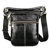 VICUNA POLO Man Shoulder Bag Dual-use Waist Pack Leg Bag Fanny Pack (black)