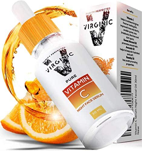 Vitamin C E Serum for Face Skin Body Eye with Hyaluronic Acid Dark Spot Brightening Organic Natural Beauty Pure Retinol Korean Care Anti Aging Acne Remover Oil Cream Skincare and Facial Mask Products