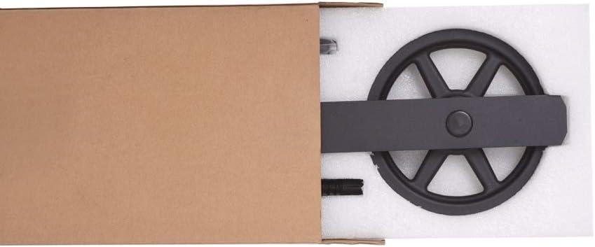 274cm//9FT Vintage Spoke Industrial Rad Schiebet/ür Barn Holz Innen T/ür Schiebet/ürbeschlag Set Schiebet/ürsystem//sliding barn door hardware