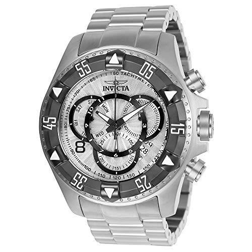 Invicta Men's Excursion Titanium Quartz Watch with Stainless-Steel Strap, Silver, 26 (Model: 24262) (Invicta Titanium)
