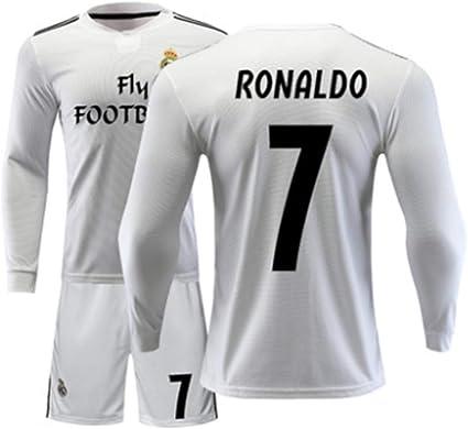 LISIMKE 2018-2019 Away Soccer C Ronaldo #7 Juventus Kids Or Youth Soccer Jersey /& Shorts /& Socks