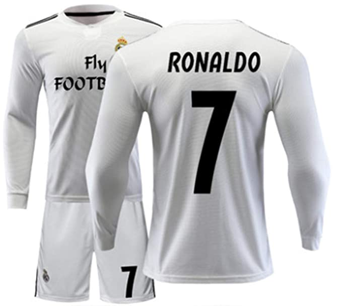 Amazon.com: LISIMKE Equipo de fútbol Home 2018/19 Real ...