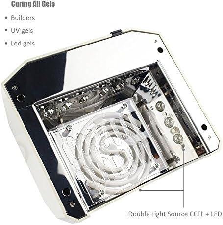 Cadrim Secador de Uñas Lámpara de LED UV con Ventilador y ...