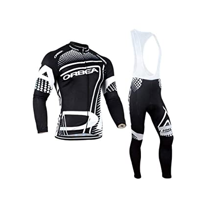 Amazon.com : Lilongjiao Cycling Jersey Long-Sleeved Suit ...