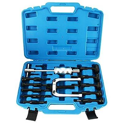 8MILEAKE Blind Inner Bearing Puller Hole Remover Extractor Set Slide Hammer Tool Kit