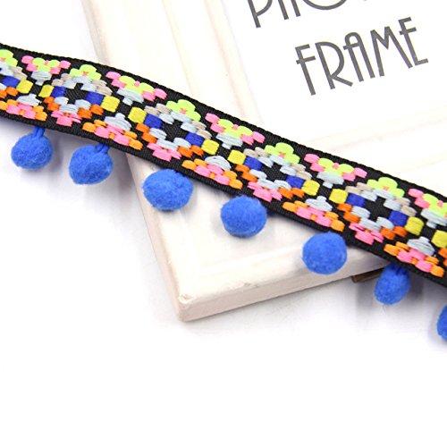 Yalulu 5 Yards Schwarz Retro Pom Pom Pompom Hairball Ball Lace Spitze Quaste Trim Band f/ür DIY Fertigkeit und Dekorieren N/ähen Kunst Zubeh/örteil