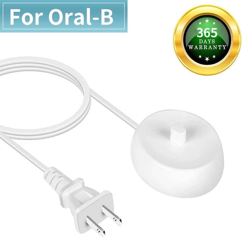 SoulBay Electric Toothbrush Charger Replacement for Braun Oral B Type 3757 D17 OC18 D OC Series Pro 1000 3000 7000 Portable Triumph Waterproof Inductive Charger Base 110V-240V AC