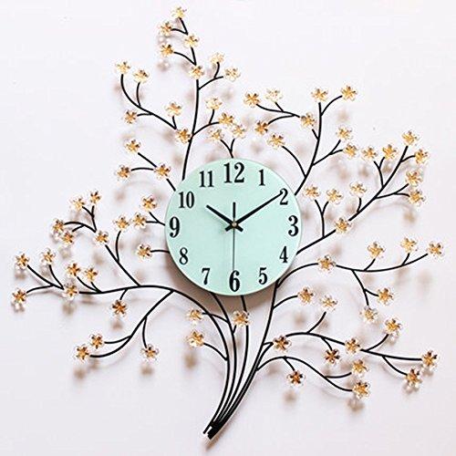 ALUPおしゃれなリビングルームの壁時計をカスタマイズパーソナライズされたアイデアレディース時計シンプルな美しさのスタンプ芸術的なサイレントクォーツ時計 (色 : A) B07F24Z1LNA