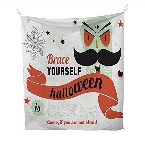 (25 Home Decor Wall Tapestries Bright Halloween Trick or Treat card4 BTS Tapestries 54W x 84L)