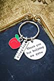 Personalized Teacher Gift Keychain – DII ABC - Thank You – Handstamped Handmade