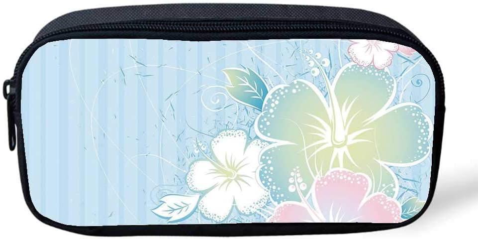 Fox - Estuche multifuncional para lápices, diseño de zorro con flores de verano y espirales para decorar fiestas de cumpleaños, 20,3 x 2,5 x 10,2 cm: Amazon.es: Oficina y papelería