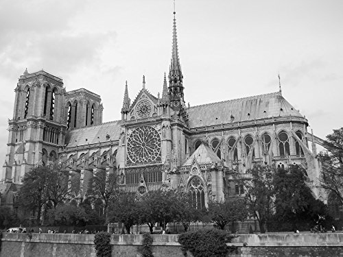 - Home Comforts Acrylic Face Mounted Prints Cathedral Black and White Monument Paris Notre-Dame Print 14 x 11. Worry Free Wall Installation - Shadow Mount is Included.