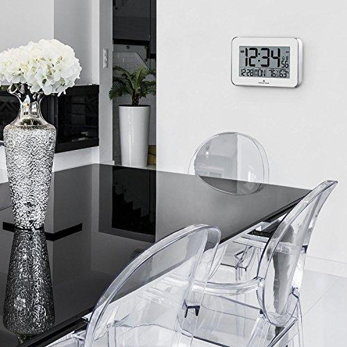 Wall Clock Polished Acrylic Bezel. Calendar, Indoor Temperature and Humidity.