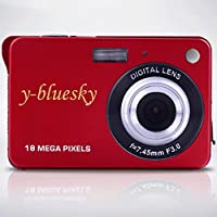 YBLUESKY Dv-993 18MP 2.7-Inch 720P LCD Screen Digital Camera (Red)