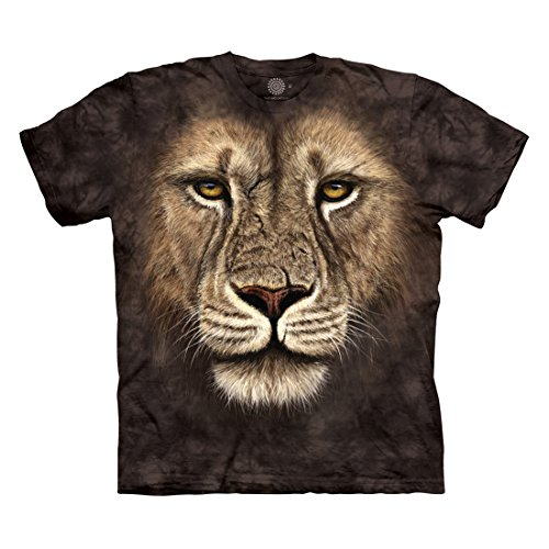 The Mountain Men's Lion Warrior T-Shirt, Black, M