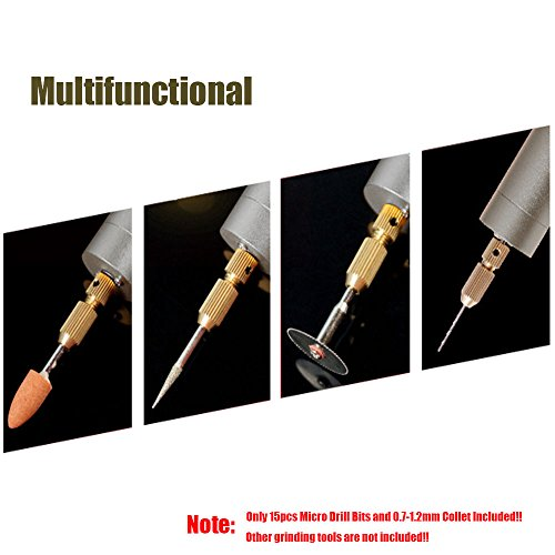Yakamoz Power Portable Supply Drill Included DIY Micro 7 Drill Bits 15pcs Aluminum Electric Handheld 2A 1 with Drill 2mm Mini Version 0 New R1PrR