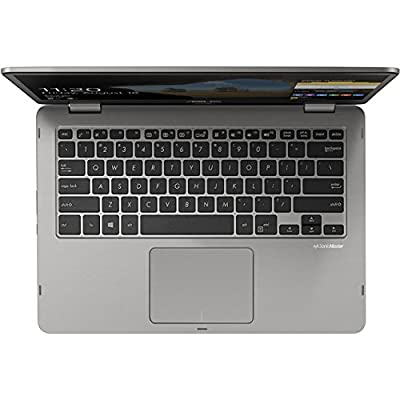 """New ASUS VivoBook 2 in 1 Flip 14"""" FHD LCD Touchscreen Laptop Computer, Intel Pentium N5000 up to 2.7GHz, 4GB LPDDR4, 64GB eMMC, Bluetooth, Webcam, Micro HDMI, Fingerprint Reader, Window 10 in S Mode by Asus"""