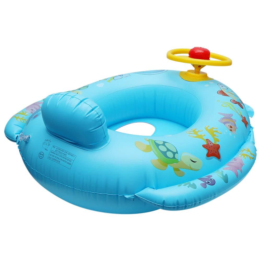 QHYK Dolphin en Forma de bebé Asiento de natación Inflable, Anillo ...