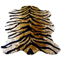 Classic Faux Fur Tiger Skin Rug - New Made in France (3x5 (actual 40 x 55))