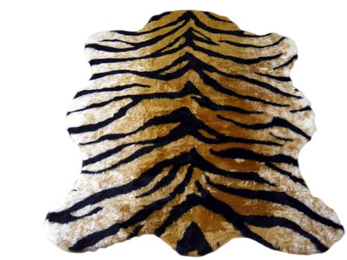 Tiger Skin Rug - Classic Faux Fur Tiger Skin Rug - New Made in France (3x5 (actual 40