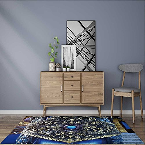 Traditional rugs traditional thai stucco pattern decorative in buddhist temple chiang rai thailand Carpet Bathroom Shower Pad 2' X 4' by L-QN