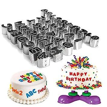 Risingmed 37pcs Alphabet Und Zahlen Ausstechformen Fur Kuchen