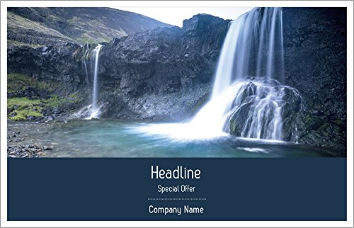 Vistaprint Green Waterfall Half Page Flyers