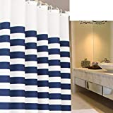 Shower Curtains?/Thickened White-Navy Blue bathroom mold waterproof polyester fabric/ curtain/ bathroom curtains-I