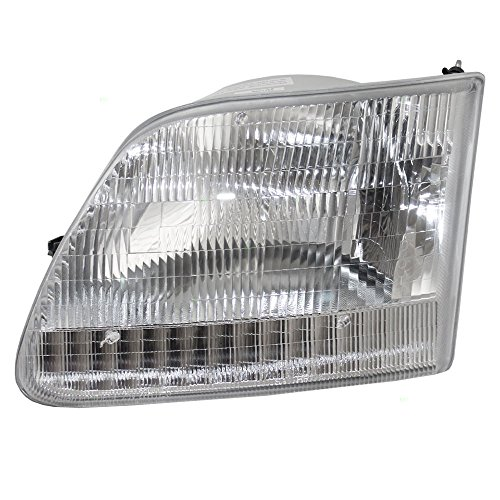 Drivers Headlight Headlamp Lens Replacement for Ford Pickup Truck SUV 3L3Z 13008 DA (Ford F150 Truck Headlight)
