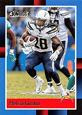 aa2971214 2018 Donruss 1988 Tribute Football #12 Melvin Gordon Los Angeles Chargers  Official NFL Trading Card