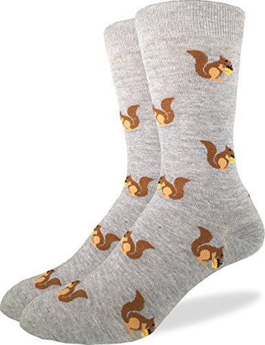 Good Luck Sock Mens Extra Large Squirrels Socks - Shoe Size 13-17, Big & Tall
