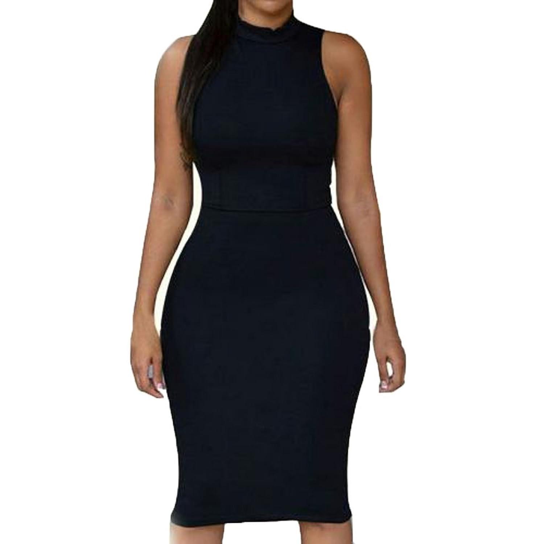Donalworld@ Womens Bodycon Bandage Sexy Party Club Cocktail Sleeveless Dress