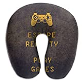 DMN U-Shaped Neck Pillow Video Games Pillows Soft Convertible Portable Multifunctional For Travel Reading And Sleeping